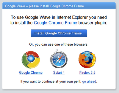 Google Chrome Frame