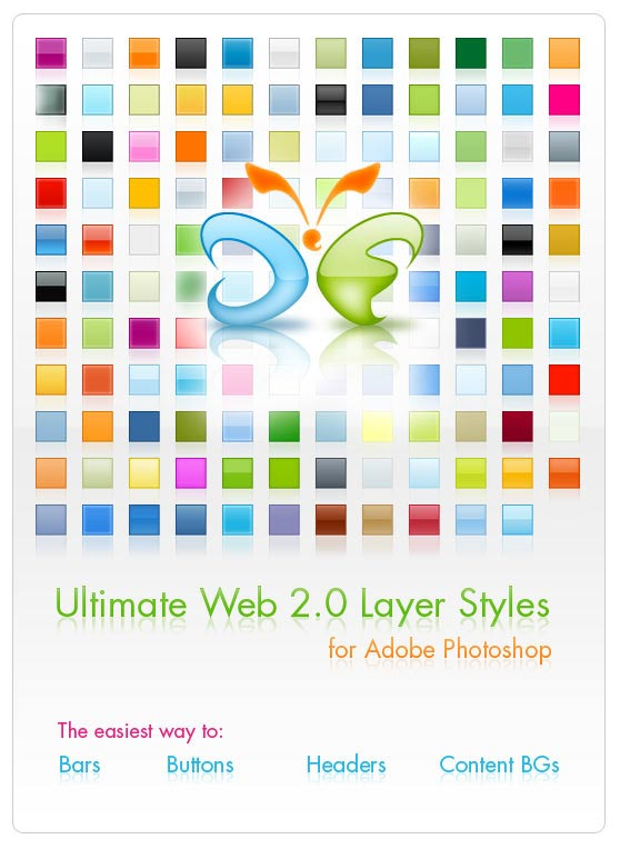 Ultimate Web 2.0 Layer Styles for Adobe Photoshop